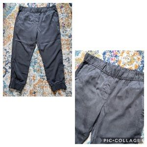 Gap gray tencel joggers with ankle zippers